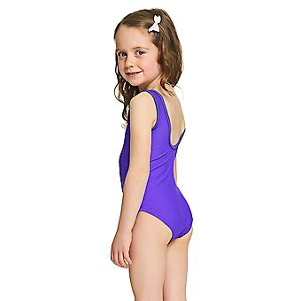 Zoggs Girls Jungle Fun Scoopback Swimsuit Purple for 6-16 Years Old