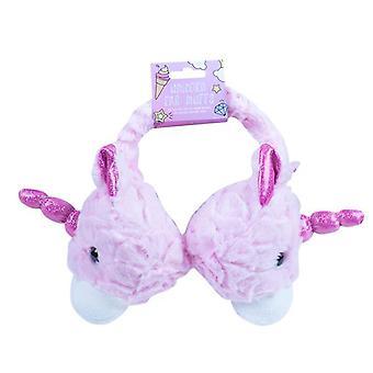 Rosa super suaves orejeras niños cabeza de unicornio