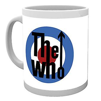 The Who Mug Classic MOD Target Band Logo Quadrophenia new Official White Boxed