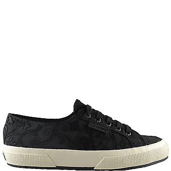 Womens Superga Embroidery Flower Crepe Fashion Casual Low Top Trainers
