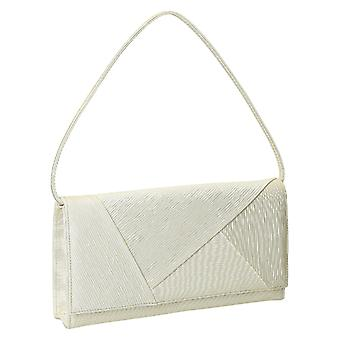 Ivory satin evening bag