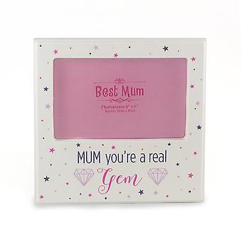 Mum You're a Real Gem White Photo Frame Mother's Day, Birthday Gifts TRIXES