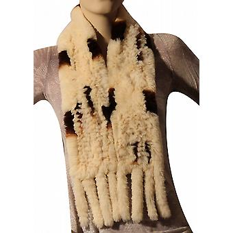 Waooh - Fashion - rabbit fur scarf rex knitted with tassel