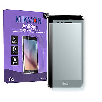 LG K8 (2017) Screen Protector - Mikvon AntiSun (Retail Package with accessories) (reduced foil)