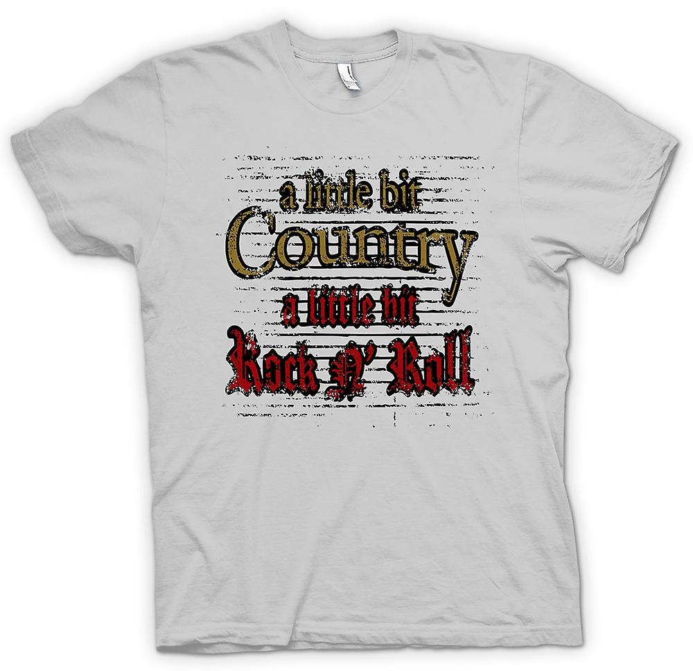 Mens T-shirt - Little Bit Of Country Rock n Roll