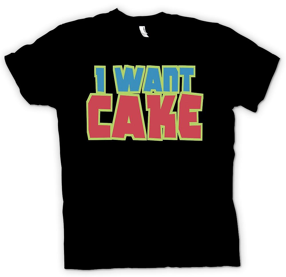 Kids T-shirt - I Want Cake - Cool Funny