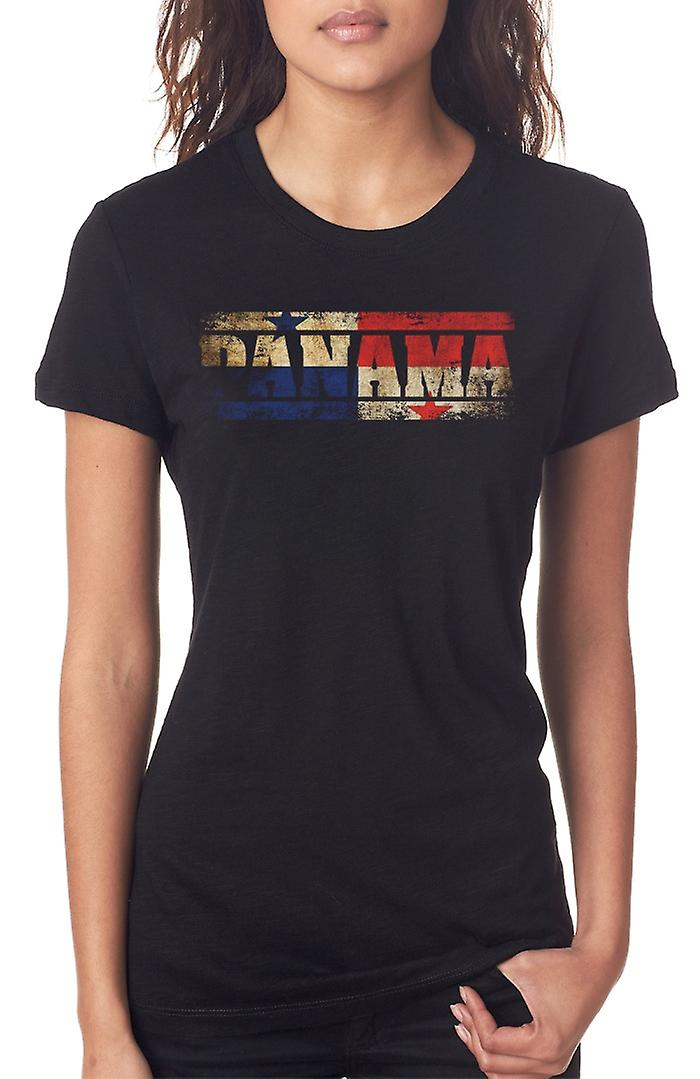 Bandiera di Panama - parole Ladies T Shirt