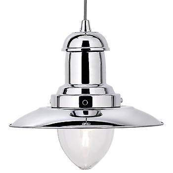Searchlight 4301CC Fisherman Polished Chrome Pendant Light