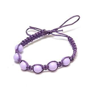 The Olivia Collection Purple/Lilac Cotton Friendship Bracelet with Beads