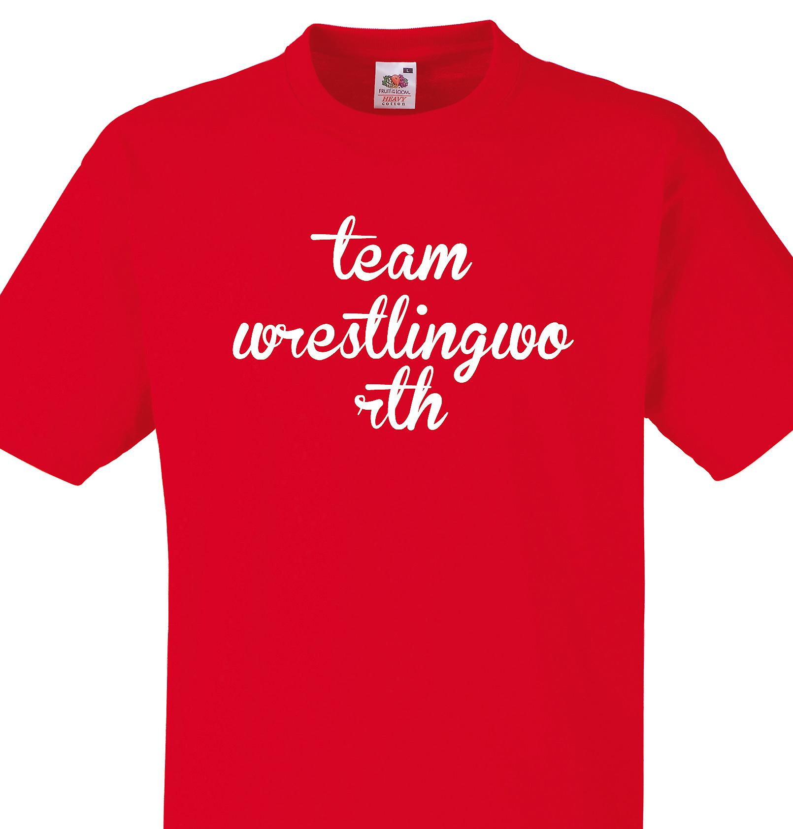 Team Wrestlingworth Red T shirt