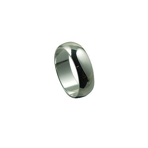 Silver 7mm plain D shaped Wedding Ring Size Z
