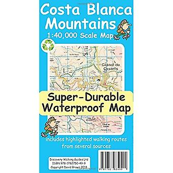 Costa Blanca Mountains Tour� & Trail Super-Durable Map