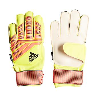adidas Predator 18 Fingersave Junior Kids Goalkeeper Goalie Glove Yellow/Red
