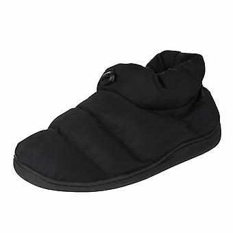 Ben Sherman Men's Quilted Boot Slipper Black Duvan