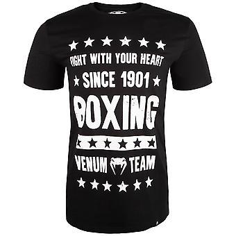 Venum Mens Boxen Ursprünge T-Shirt-schwarz