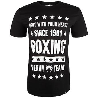 Venum Mens boxe origines T-Shirt-Black