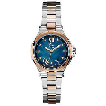 Watch GC Y33001L7 - Structura two-tone steel e Dor Rose dial blue woman