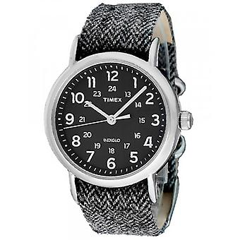 TIMEX Orologio Mod. WEEKENDER TW2P72000 - STAINLESS STEEL - TEXTIL - MINERAL GLASS - INDIGLO - 38mm - 30 METERS
