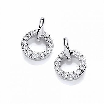Cavendish French Silver and Cubic Zirconia Circle Stud Earrings