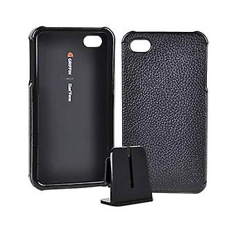 Griffin Cuir Wrapped Snap On Case FOR iPhone 4 - Noir (Bulk Packaging)