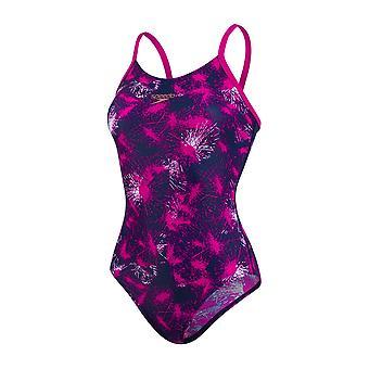 Speedo Blastlight Allover Thinstrap Muscleback Swimwear For Girls