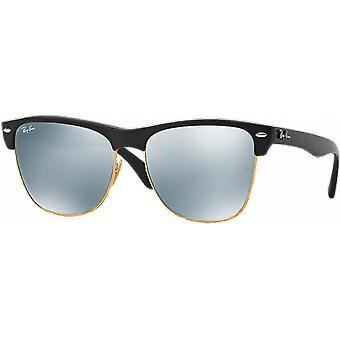 Ray - Ban Clubmaster Oversized Black Gloss mirrored green money
