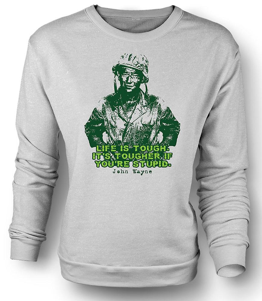 Mens Sweatshirt John Wayne - Green Beret - WW2