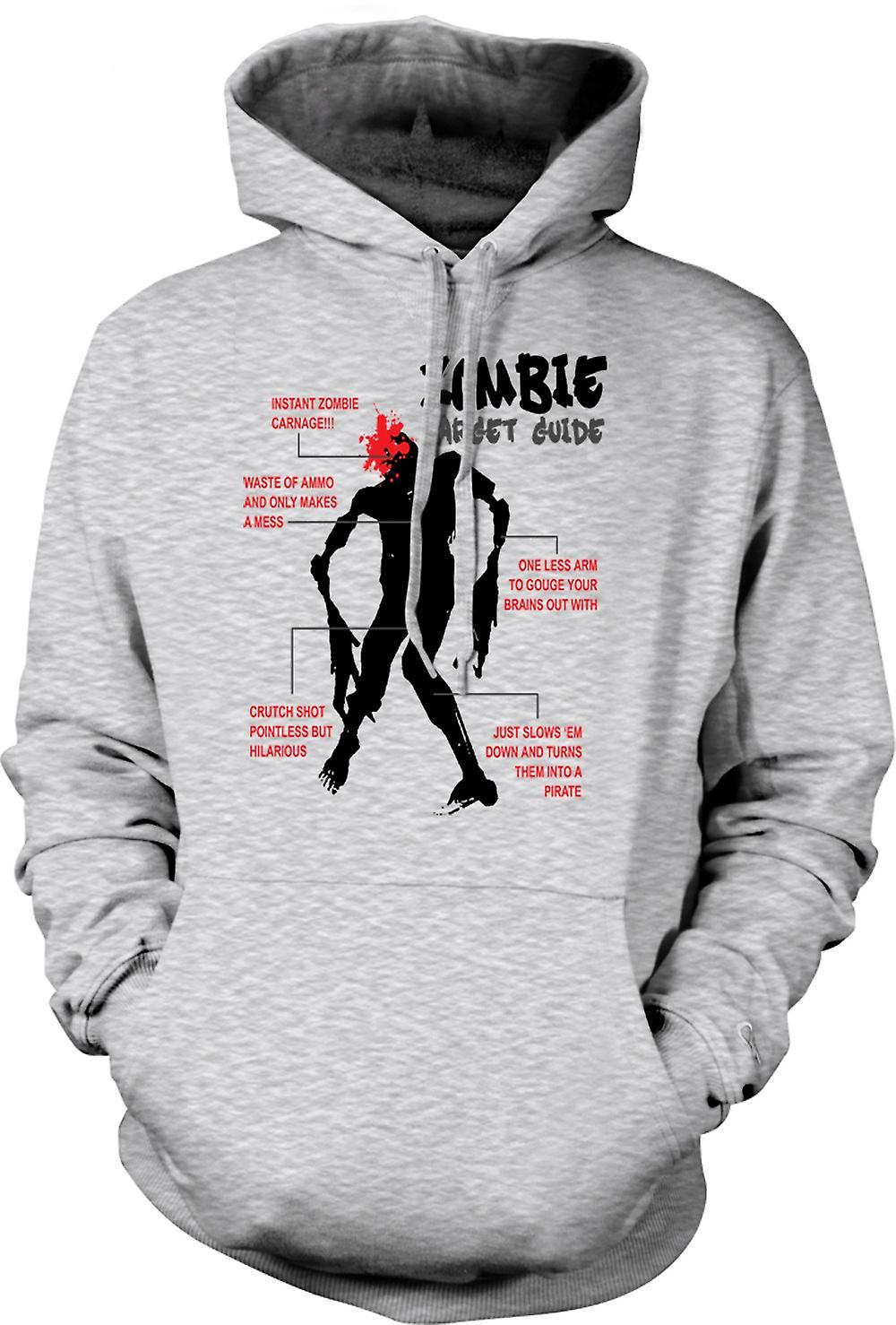 Mens Hoodie - Guide Cible Zombie - Drôle