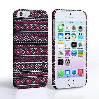 Caseflex iPhone 55S Fairisle Case – Grey with Red Background