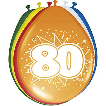 Colorful balloons balloon number 80 birthday 8 St. decoration balloons party