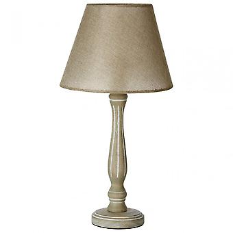 Premier Home Maine ljusstake bordslampa, tyg + PVC, trä, grå