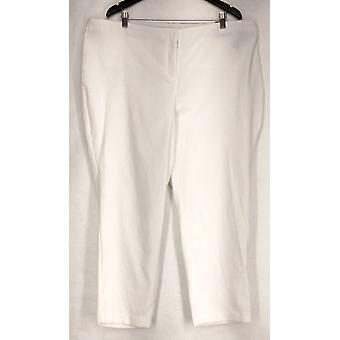 Alfani Plus Pants Jacquard Woven Python White Womens