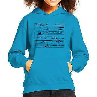 Krazy Kat Ignatz Capers Kid's Hooded Sweatshirt