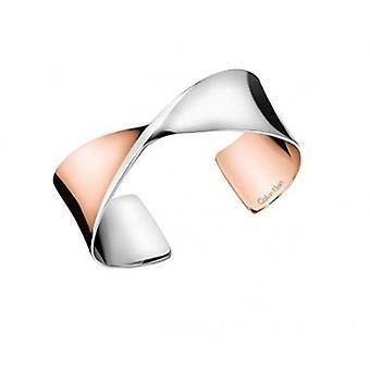 Calvin Klein RVS Rose goud Twist dikke vrouwen Bangle KJ7SPF20030M