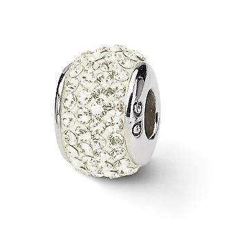 925 Sterling hopea kiillotettu heijastukset kerma koko kristalli helmi charmia