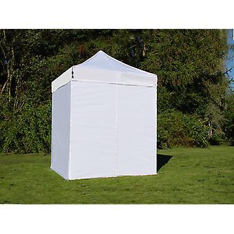 Vouwtent/Easy up tent FleXtents Easy up pavillon Basic v.2, 2x2m Wit, inkl. 4 Zijwanden
