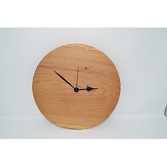 Holz Wanduhr Eiche 31 cm Uhr Baumscheibenuhr Holzuhr Holzdekoration Holzdeko Deko Geschenk Geschenkidee Unikat handmade Made in Austria
