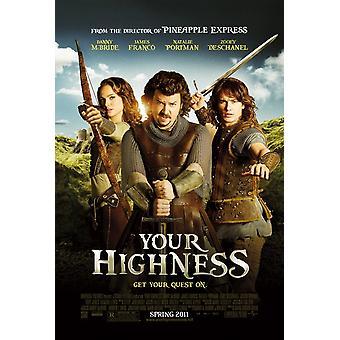 Ihre Hoheit Poster doppelseitig regelmäßig (2011) Original Kino Poster