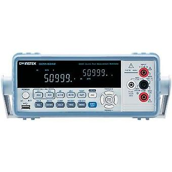 Bench multimeter digital GW Instek GDM-8342USB Calibrated to: Manufacturer standards CAT II 600 V Display (counts): 500