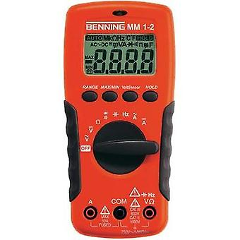 Handheld multimeter digital Benning MM 1-2 Calibrated to: Manufacturer standards CAT II 1000 V, CAT III 600 V Display (