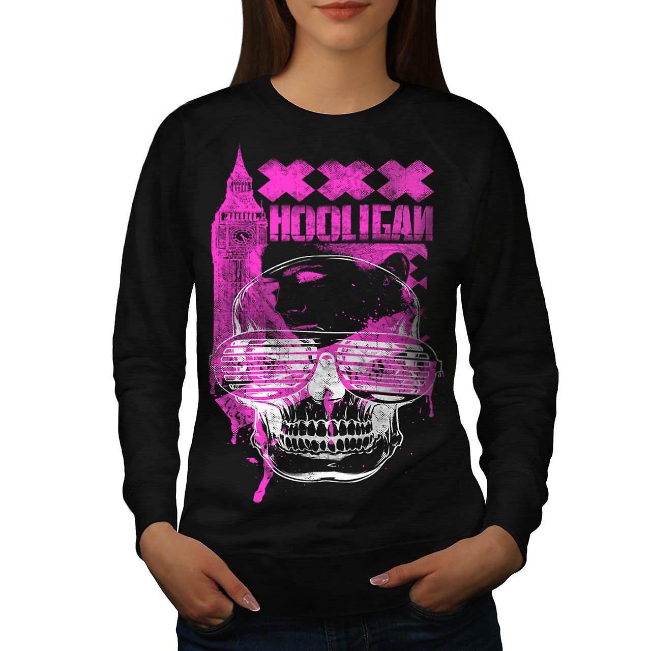 UK Hooligan Toten Gangster Frauen Schwarzes Sweatshirt | Wellcoda