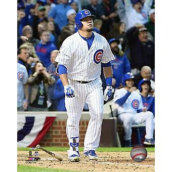 Kyle Schwarber hits a solo Home Run Game 4 of the 2015 National League Division Series Photo Print