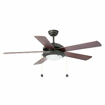 "Faro ceiling fan Manila Brown 132 cm / 52"" with lighting"