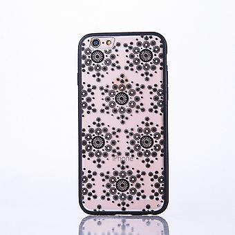 Mobile case mandala for Apple iPhone 7 design case cover motif flakes cover bumper black