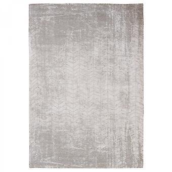 Distressed White Plains Cotton Chevron Rug- Louis De Poortere