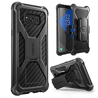 Samsung Galaxy S8 Case, i-Blason, Transformer Case,2017 Release, Dual Layer Case with Holster Case, s8 case, galaxy s8