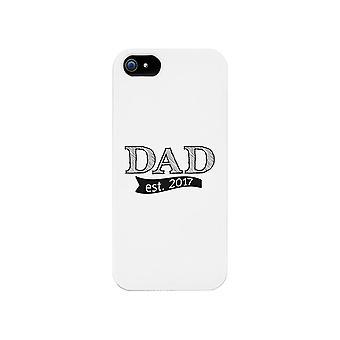 Dad Est 2017 White iPhone 5 Case