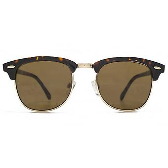 Monkey Monkey Childrens Casey Retro Plastic & Metal Combo Sunglasses In Tortoiseshell Gold