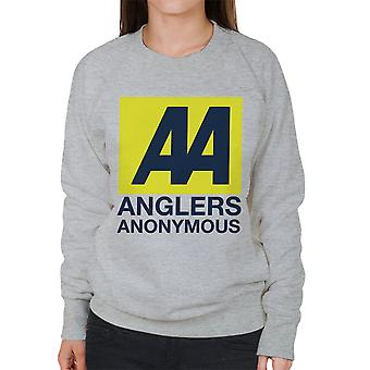 Anglers Anonymous AA Logo Fishing Women's Sweatshirt