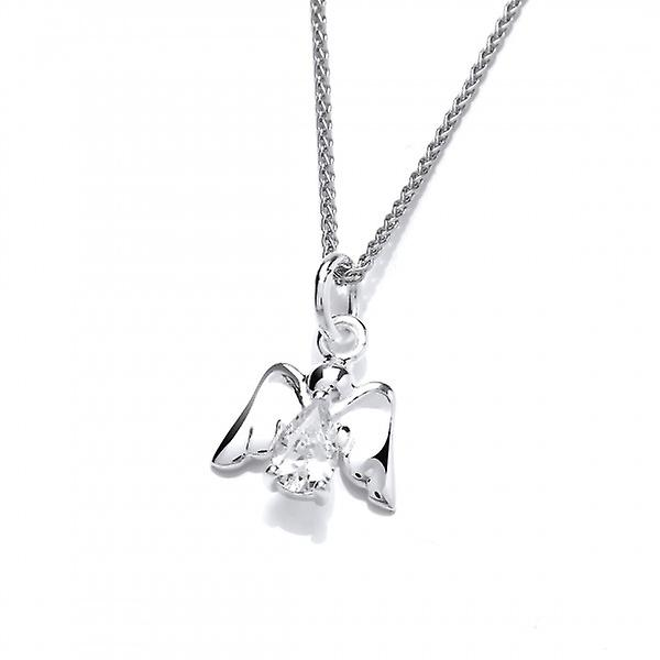 Cavendish French Sterling Silver and CZ Angel Pendant without Chain